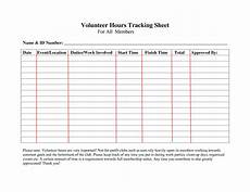 Volunteer Tracking Form Template Volunteer Hours Log Sheet Template Sign In Sheet