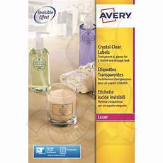Avery Products Avery Crystal Labels 40mm Diameter Clear L7780 25 600