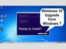 Windows 10 upgrade from Windows 7   Upgrade Windows 7 to