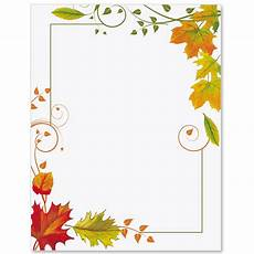 Free Fall Borders For Word Fall Freshness Border Papers Paperdirect S Borders For