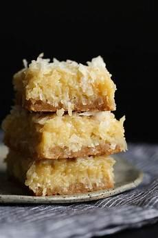 buttery sweet coconut bars coconut desserts dessert
