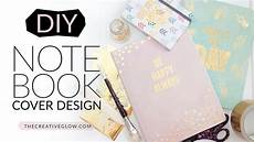 Cover Page For Notebook Diy Notebook Cover Design Gold Leaf Designer Look Youtube