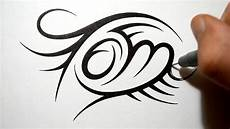 Cool Designs With Names Creating Tribal Name Design Tom Youtube