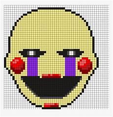 Minecraft Pixel Art Grids Drawn Pixel Art Fnaf Puppet Grid Minecraft Pixel Art Hd