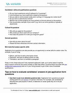 How To Complete Job Application Questions Job Application Form Questions Workable
