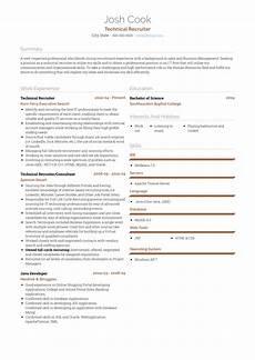 College Recruiter Resume Recruiter Resume Samples And Templates Visualcv