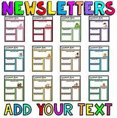 News Letter Templates For Teachers Teacher Newsletter Templates Editable Newsletters By