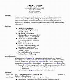 Employee Resume Employee Relations Manager Resume Sample Resumes Misc