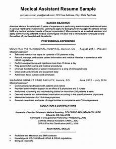 Medical Assistant Job Description For Resume Medical Assistant Resume Sample Resume Companion