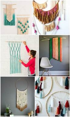 20 easy diy yarn wall hanging ideas diy home yarn