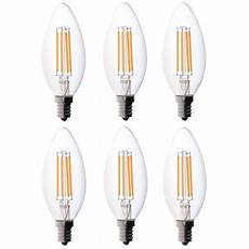 Type C Light Bulb 6 Pack Bioluz Led 40w Candelabra Bulb B Type C Type E12