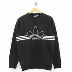 adidas clothes adidas originals clothing outline trefoil black sweatshirt