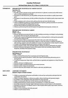 Phlebotomist Duties Resume Phlebotomy Technician Resume Samples Velvet Jobs
