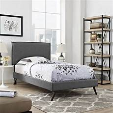 upholstered fabric size platform bed frame with wood