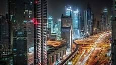 Dubai Night Lights Night Lights Of Dubai United Arab Emirates Hd Wallpaper