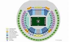 Raiders Tickets Seating Chart Tickets Oakland Raiders Vs Denver Broncos Oakland Ca