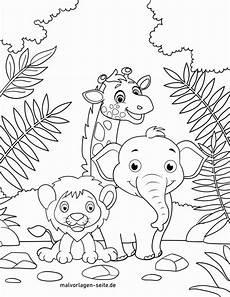 Ausmalbilder Urwald Tiere Malvorlage Wilde Tiere Kostenlose Ausmalbilder