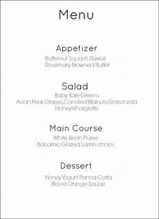 5 Course Meal Menu Template How To Make A 4 Course Restaurant Quality Meal At Home