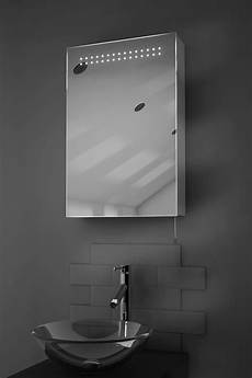 Bathroom Mirror Cabinet With Battery Lights Sheva Led Illuminated Battery Bathroom Mirror Cabinet With