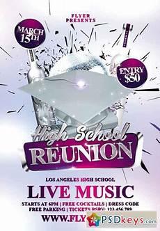 Reunion Flyer Template High School Reunion Premium Flyer Template 187 Free