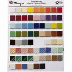 Mayco Crystalites Color Chart Mayco Foundations Color Chip Board