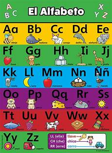 Alphabet In Spanish Buy Abc Alphabet Spanish Poster Chart Laminated