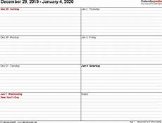 free weekly calendar template 2020 weekly calendars 2020 for pdf 12 free printable templates