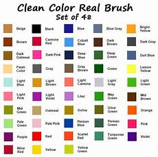 Zig Real Brush Color Chart Zig Clean Color Real Brush 48 Color Collection W Case