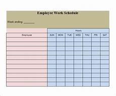 Printable Work Schedules Work Schedule Template 15 Download Free Documents In