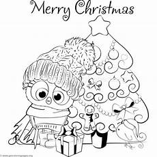 Ausmalbilder Eule Weihnachten Tree And Owl Coloring Pages