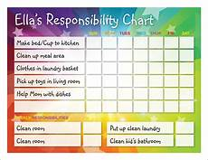 My Responsibility Chart Pursuits In Homemaking Responsibility Chart