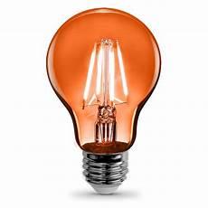 Orange Filament Light Bulb Feit Electric 3 6 Watt Orange A19 Filament Led Light Bulb