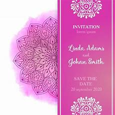 Pink Invitations Pink Wedding Invitation Template Free Vector