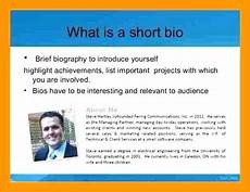 Short Bio Templates Free Short Personal Bio Examples Examples And Forms