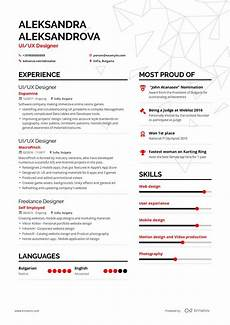 Resume Ux Designer Ux Designer Resume Example And Guide For 2019