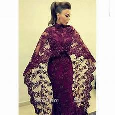 Designers In Dubai 2017 Abaya In Dubai Purple Lace Evening Dresses Mermaid