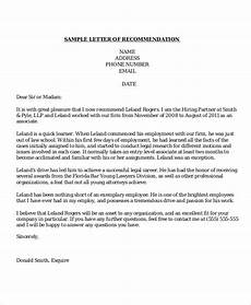 sample letter of recommendation format free 7 sample recommendation letter templates in ms word