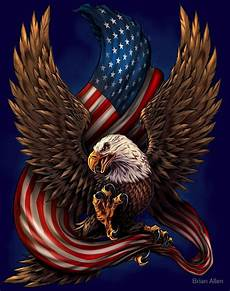 Allen Eagle Designs Quot American Eagle And Flag Quot By Brian Allen Redbubble