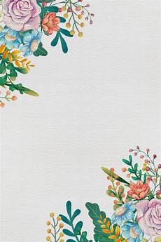 Background Simple Elegant Simple And Elegant Painted Floral Border Vector Background