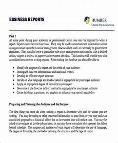 Sample Buisness Report Free 30 Sample Business Reports In Pdf Ms Word Google