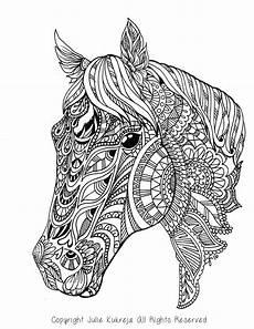 malvorlagen erwachsene pferde ausmalbilder