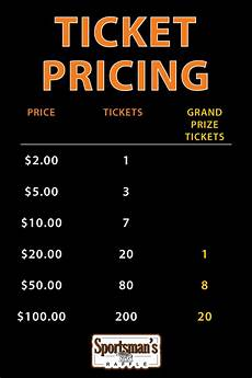 Raffle Ticket Price Sportsman S Raffle Wrwa