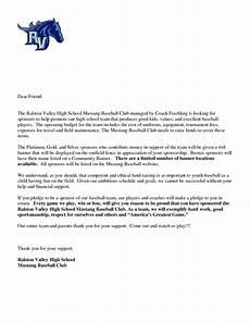Sample Sponsorship Letter For Baseball Team
