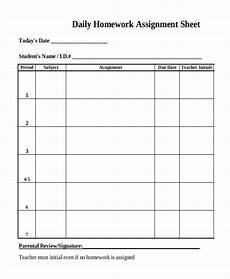 Homework Assignments Template 13 Daily Sheet Templates Free Word Pdf Format Download