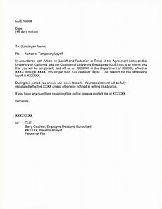 Layoff Letter Temporary Layoff Letter Template Alberta