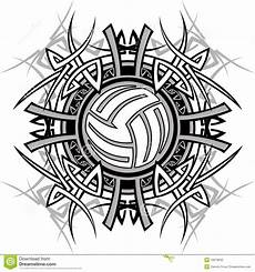 Cool Volleyball Designs Tribal Volleyball Vector Logo Stock Illustration