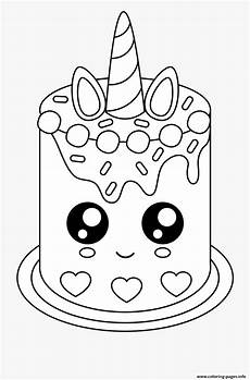 easy cake unicat coloring pages printable