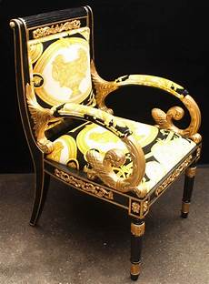 Versace Chair Luxury Custom Armchair Covered In Versace Gold