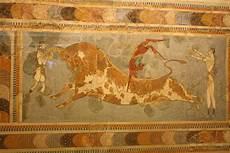 fresco ancient minoan bull leaping illustration ancient history