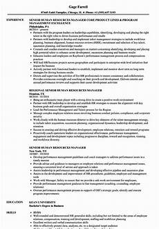 Human Resources Manager Resume Examples Human Resource Generalist Resume Fresh Senior Human